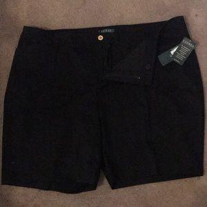 Ralph Lauren women's black shorts. Size 22 NWT